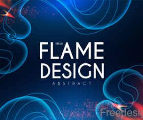 Flame design abstract background vector 05