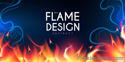 Flame design abstract background vector 06