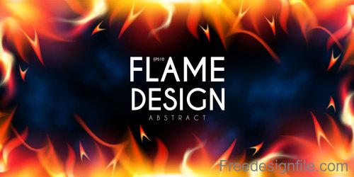 Flame design abstract background vector 07