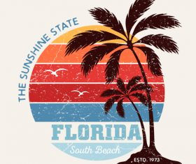 Florida South Beach Logo design vector