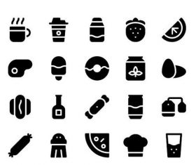 Food and Beverages Solid icons