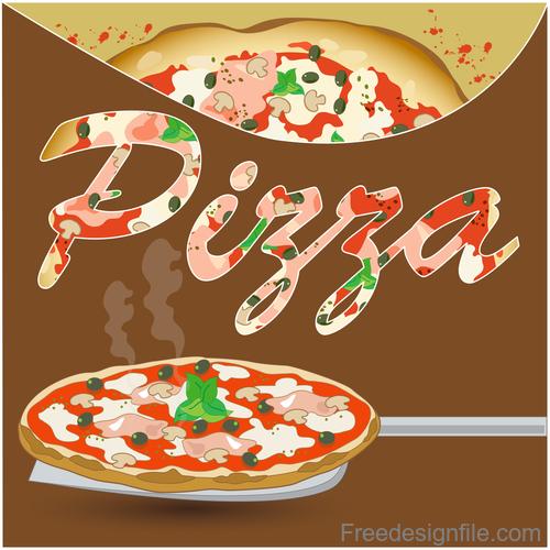 Fresh pizza vector background design