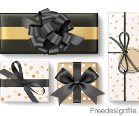 Gloden gift box design vector