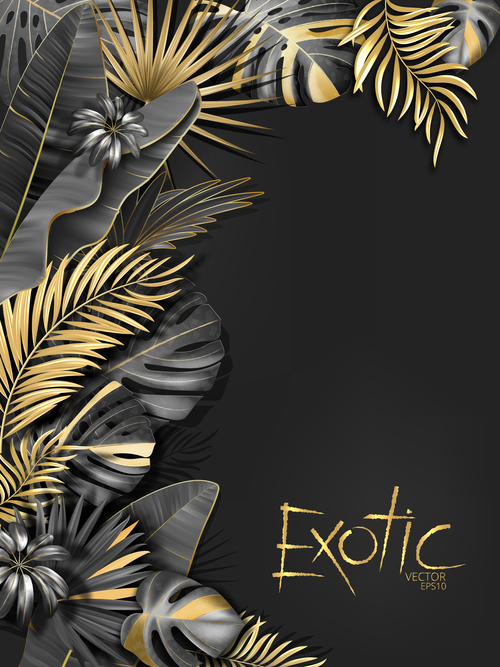 Gold Palm Tropical Background Vector 05 Free Download Select from premium tropical background images of the highest quality. gold palm tropical background vector 05