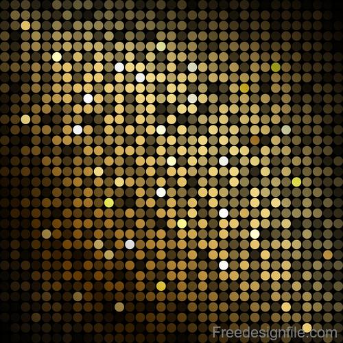 Gold shining mosaic background vector design 01