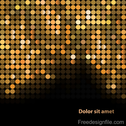 Gold shining mosaic background vector design 02