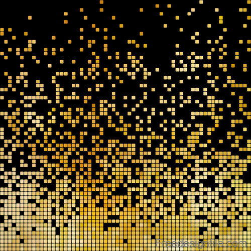 Gold shining mosaic background vector design 03