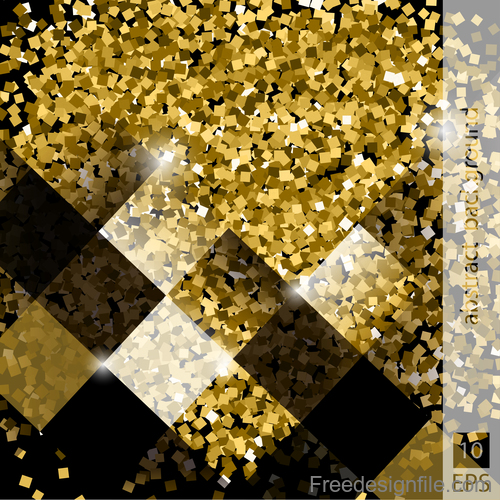 Gold shining mosaic background vector design 06