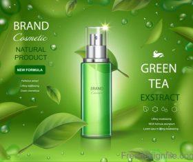 Green Tea Moisturiser poster template vector