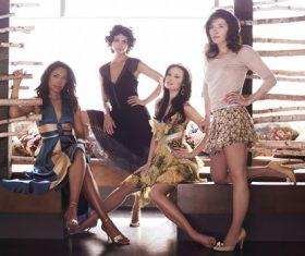Group photo of four women Stock Photo