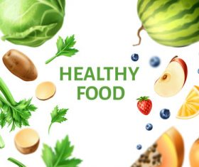 Healthy food background illustration vector material 05