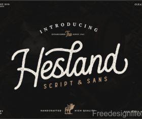 Hesland Vintage Fonts