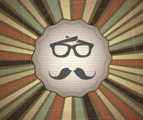 Hipster styles retor background vector 02