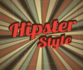 Hipster styles retor background vector 03