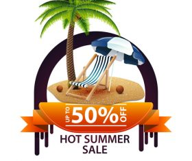 Hot summer sale and discount background vector 01