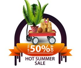 Hot summer sale and discount background vector 02