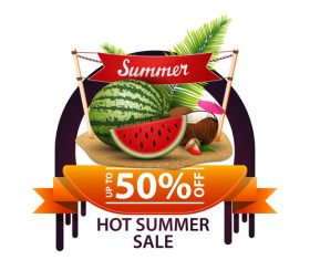 Hot summer sale and discount background vector 03