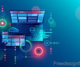 Internet digital technologies design vectors 02