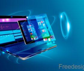 Internet digital technologies design vectors 03