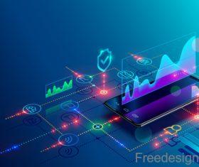 Internet digital technologies design vectors 05