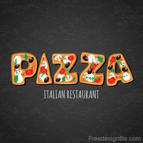 Italian pizza backgorund vector design 01