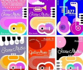 Jazz music festival poster template vector
