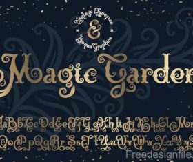 Magic garden alphabet font