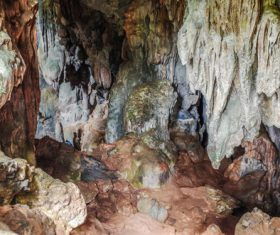 Magical karst cave Stock Photo
