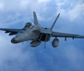 McDonnell Douglas FA-18 Hornet Stock Photo
