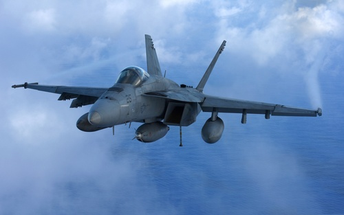 McDonnell Douglas FA 18 Hornet Stock Photo