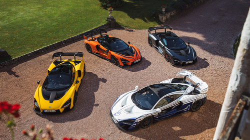 McLaren Senna supercars top view Stock Photo
