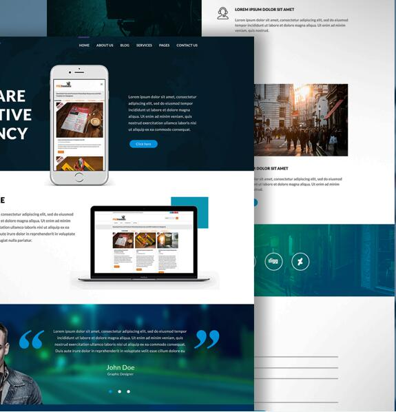 Modern Agency Website PSD Template
