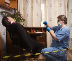 Murder scene Stock Photo 04