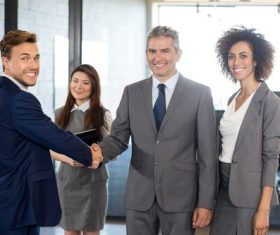Negotiate a successful handshake Stock Photo 02