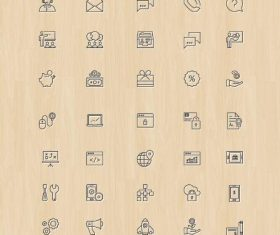 Online Business And Finance PSD Icons