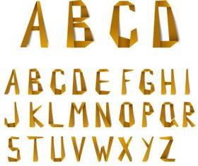 Origami vintage alphabet vector