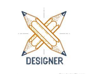 Pencil logo creative design vectors 01