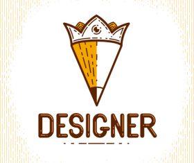 Pencil logo creative design vectors 02