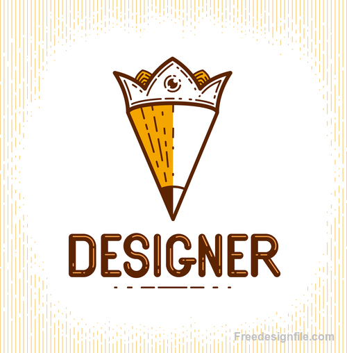 Pencil logo creative design vectors 02