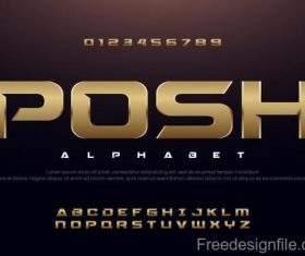 Posh alphabet design vector