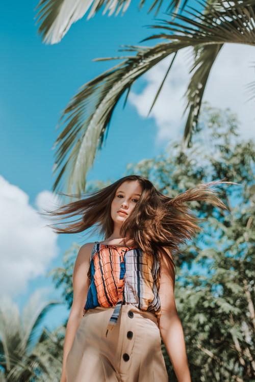 Pure long hair girl Stock Photo