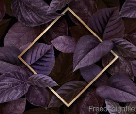 Purple minty leaf background vector