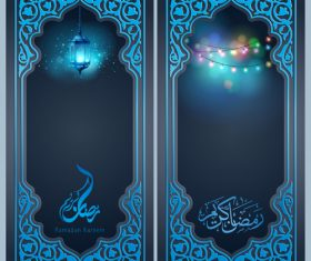Ramadan Kareem greeting background for islamic banner design vector