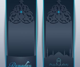 Ramadan Kareem roll up banner islamic vector design template vector