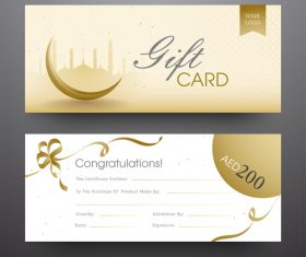 Ramadan gift card template vector 01