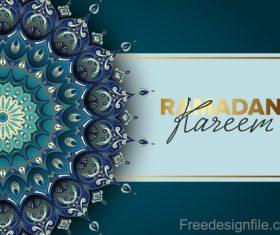 Ramadan kareem background with decor pattern vector
