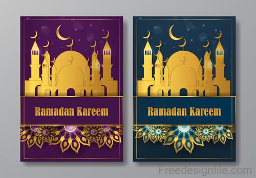 Ramadan kareem broshure cover vectors