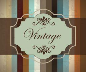 Retro with vintage background vector design 04