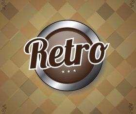 Retro with vintage background vector design 06