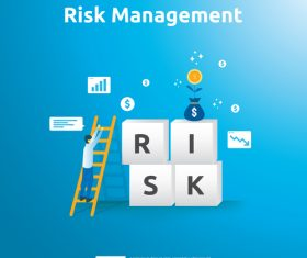 Risk management business template vector 01